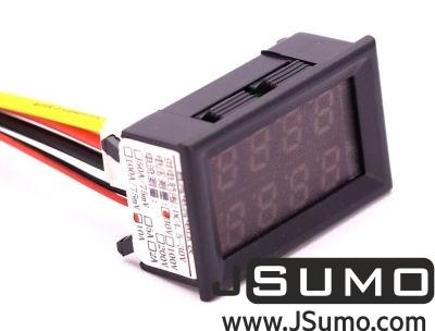 - Panelmeter Voltmeter & Ammeter (4.5-30V & 10A)