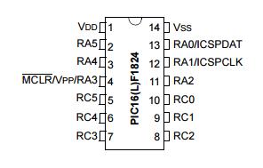 Microchip - PIC16F1824 Pic MCU 14 Pin TSSOP (1)