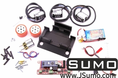 Jsumo - Predator Mini Sumo Robot Kit (Full Kit - Not Assembled) (1)