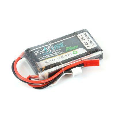 - Profuse 2S 7.4V 1350 Mah LiPo Battery
