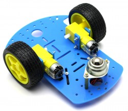 RoboMOD 2WD Mobile Robot Chassis Kit (Orange) - Thumbnail