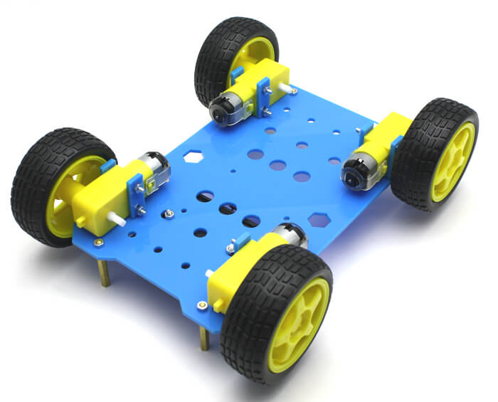 RoboMOD 4WD Explorer Mobile Robot Chassis Kit (Blue)