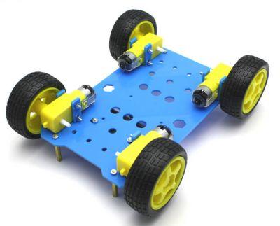 Jsumo - RoboMOD 4WD Explorer Mobile Robot Chassis Kit (Blue) (1)