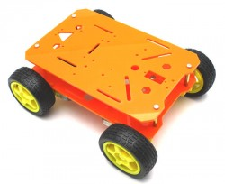 RoboMOD 4WD Explorer Mobile Robot Chassis Kit (Orange) - Thumbnail