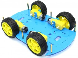 RoboMOD 4WD Mobile Robot Chassis Kit (Blue) - Thumbnail