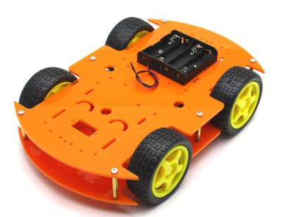 Jsumo - RoboMOD 4WD Mobile Robot Chassis Kit (Orange)