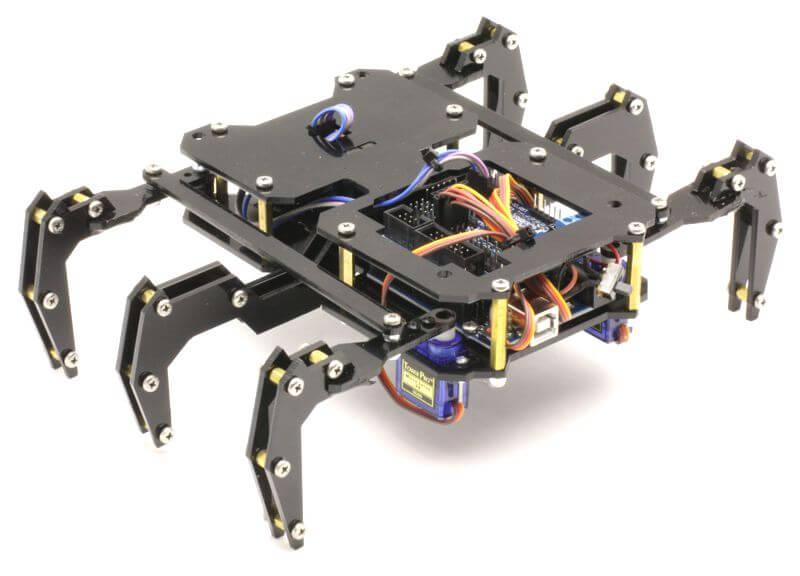 ROBUG Arduino Based Hexapod Robot Kit (Black)
