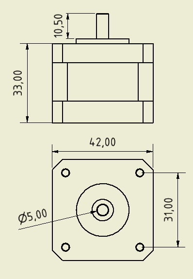 Sanyo Denki Unipolar Nema17 Size Stepper Motor (200 Step)