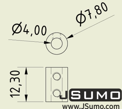 Jsumo - Shaft Coupler 4mm-4mm (Pair) (1)