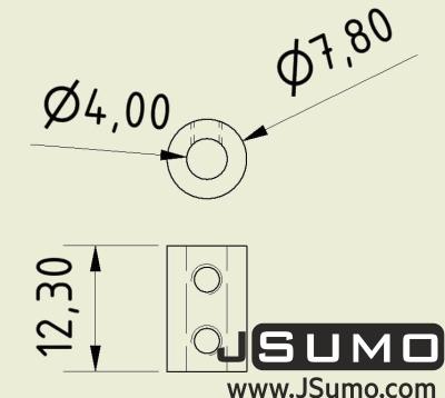 Jsumo - Shaft Coupler 4mm-4mm (Pair) (1)