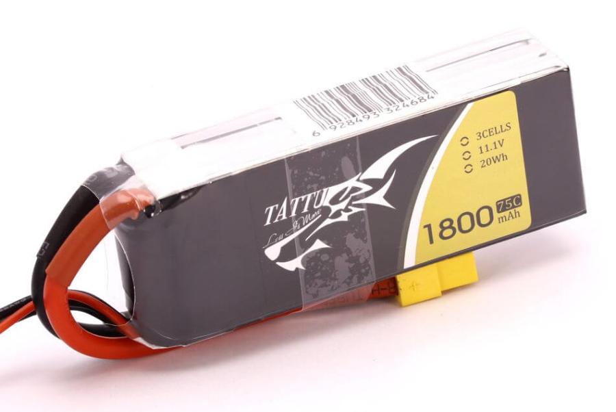 TATTU 3S 1800mah 75C Lipo (High Burst Lipo Battery)