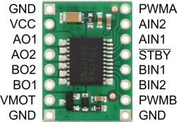 TB6612FNG Dual Motor Driver Carrier (Pololu) - Thumbnail