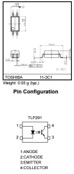 TLP291 1Ch. 4-Soic Optocoupler - Thumbnail