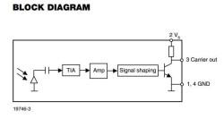 TSMP77000 IR Detector (20-60 Khz, No Frequency Filter) - Thumbnail