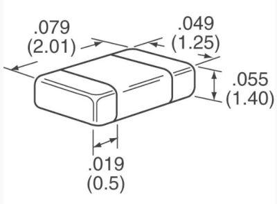 AVX - 0.47uF 100V X7R 805 Capacitor (1)