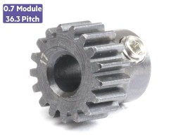 Jsumo - 0.7 Module (36.3 Pitch) 17T Pinion Gear - Ø5mm