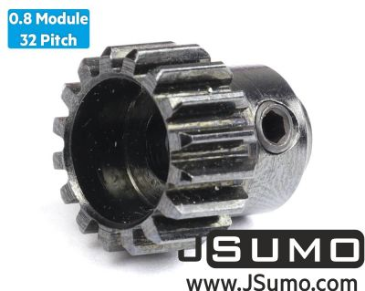 Jsumo - 0.8 Module (32 Pitch) 16T Pinion Gear - Ø5mm