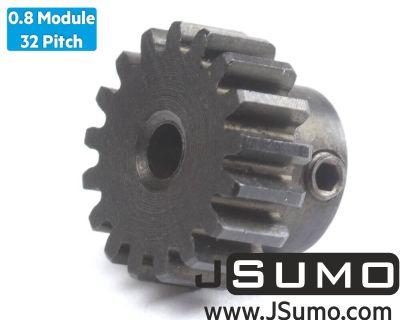 Jsumo - 0.8 Module (32 Pitch) 17T Pinion Gear - Ø3.17mm