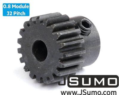 Jsumo - 0.8 Module (32 Pitch) 19T Pinion Gear - Ø5mm