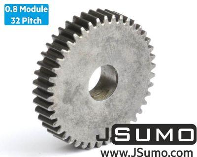 Jsumo - 0.8 Module (32 Pitch) 42T Steel Spur Gear - Ø9mm