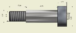 Ø10x25mm Hardened Steel Shaft Screw - Thumbnail