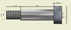 Ø10x30mm Hardened Steel Shaft Screw - Thumbnail