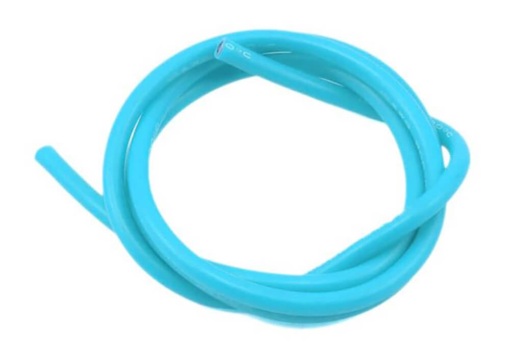 12 AWG Multi Stranded Copper-Silicon Cable -Blue 1 Meter