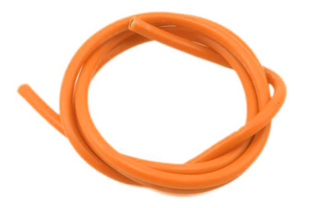 16 AWG Multi Stranded Copper-Silicone Cable -Orange 1 Meter
