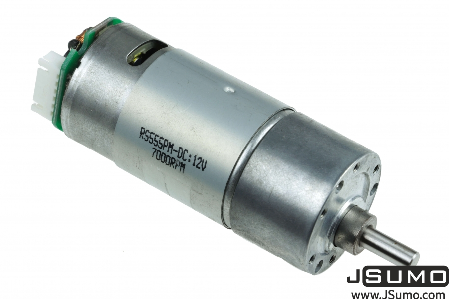 12V 75RPM (100:1) 37D Metal Gear Motor HP with Encoder