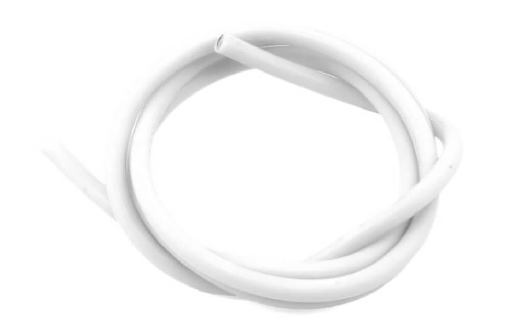 14 AWG Thick Multi Stranded Copper-Silicon Cable - White 1 Meter