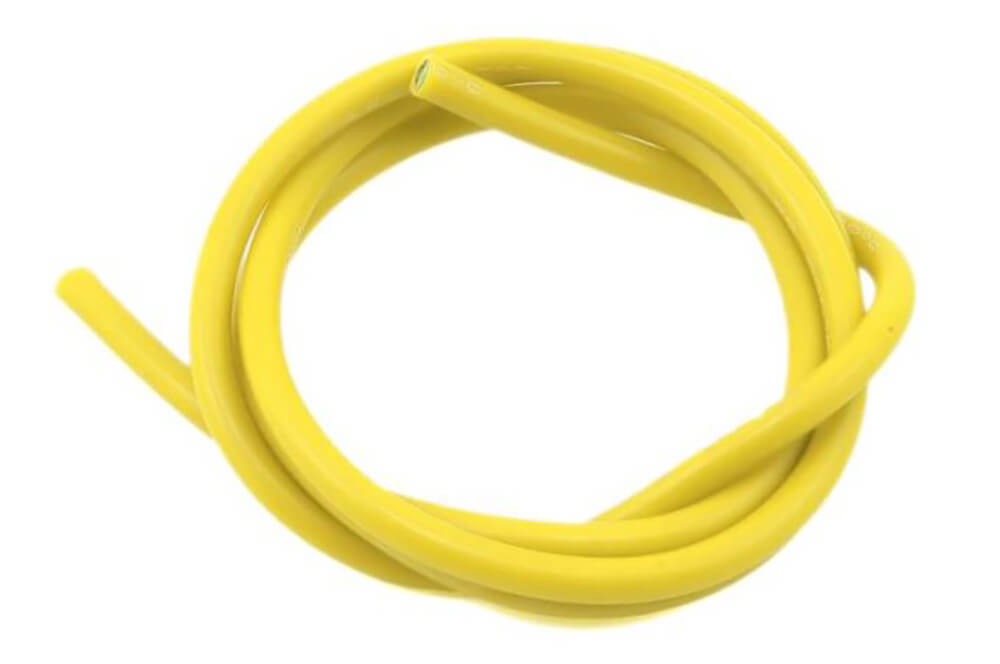 14 AWG Thick Multi Stranded Copper-Silicon Cable - Yellow 1 Meter