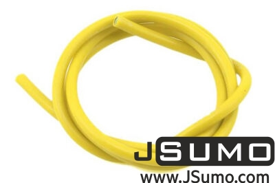 - 16 AWG Thick Multi Stranded Copper-Silicon Cable - Yellow 1 Meter