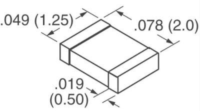 Kemet - 1nF 100V X7R 805 Capacitor (1)