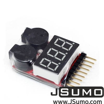 - LiPo Buzzer Battery Voltage Indicator Volt Meter (Tester With Alarm)