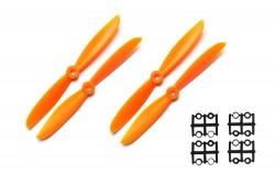 - 2 Blade 6045 Propeller Set - Orange (4pcs)