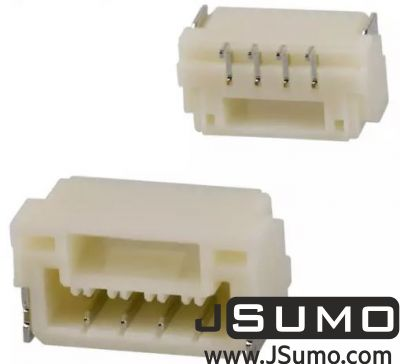 JST - 2 Pos Connector 1.25mm Side Input, SMD