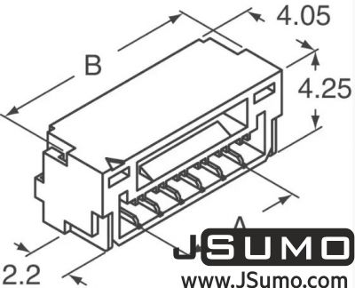 JST - 2 Pos Connector 1.25mm Side Input, SMD (1)