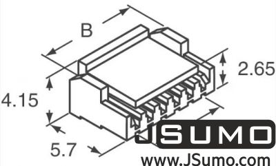 JST - 2 Pos Connector Housing 1.25mm Pitch (1)