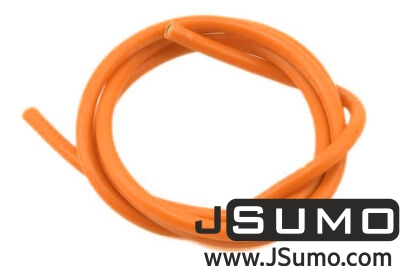 - 26 AWG Multi Stranded Copper-Silicone Cable - Orange 1 Meter