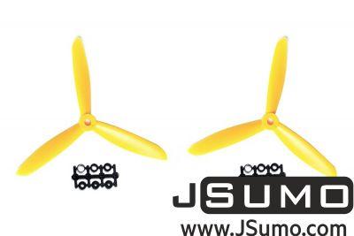 - 3 Blade 6045 Propeller Set - Yellow(2pcs)