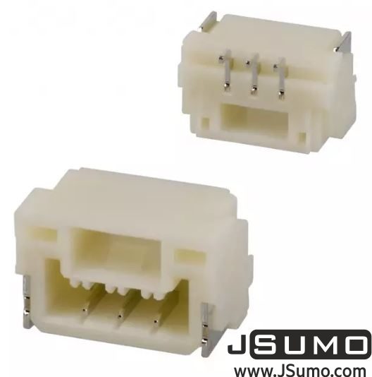 3 Pos Connector 1.25mm Side Input, SMD