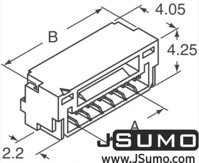 JST - 3 Pos Connector 1.25mm Side Input, SMD (1)