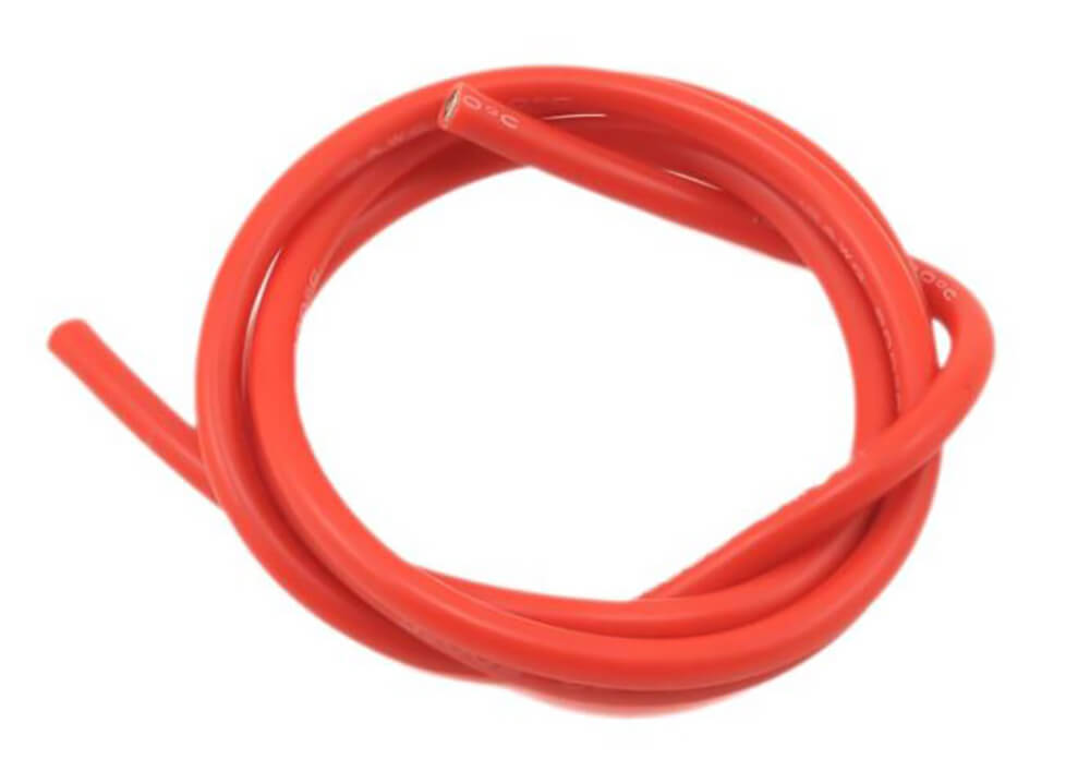 30 AWG Multi Stranded Copper-Silicone Cable - Red 1 Meter