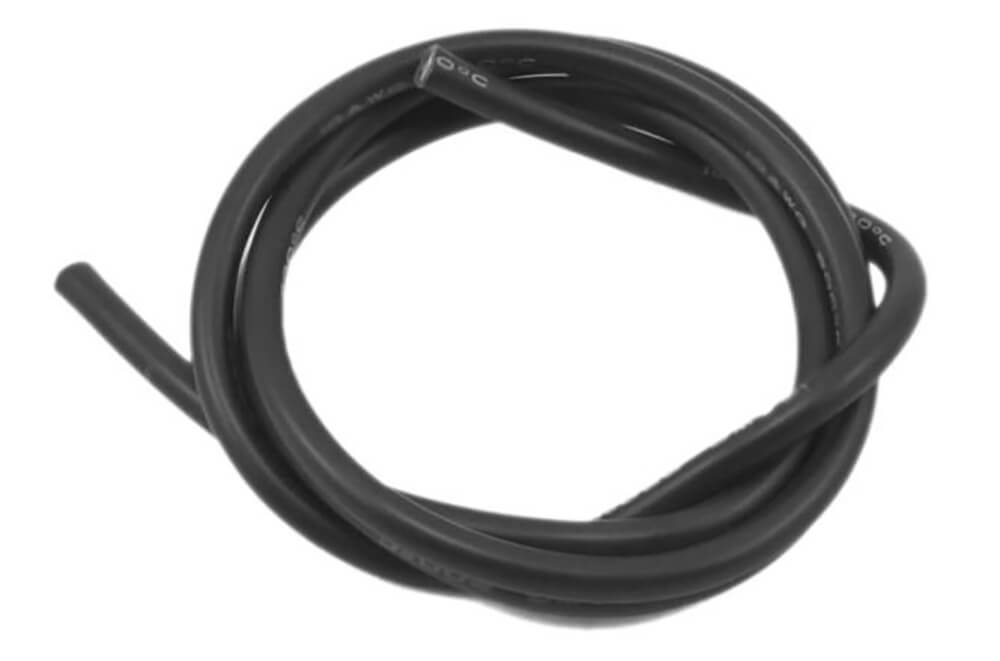 30 AWG Multi Stranded Copper-Silicone Cable - Black 1 Meter