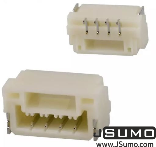 4 Pos Connector 1.25mm Side Input, SMD