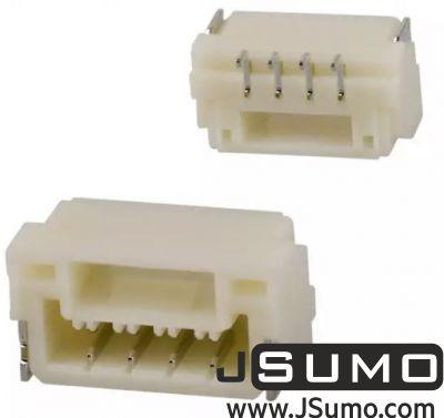 JST - 4 Pos Connector 1.25mm Side Input, SMD