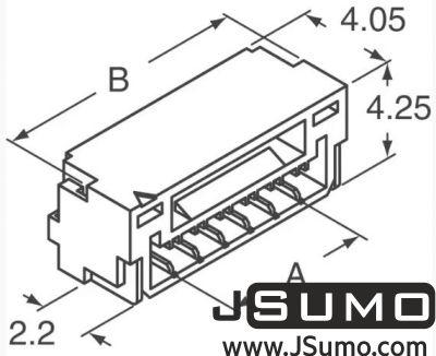 JST - 4 Pos Connector 1.25mm Side Input, SMD (1)