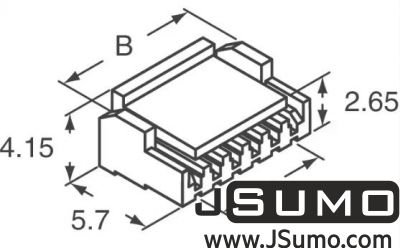 JST - 4 Pos Connector Housing 1.25mm Pitch (1)