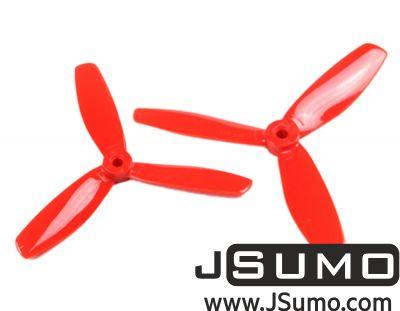 Jsumo - 5045 3 Blade Propeller Pair Red (CW & CCW)
