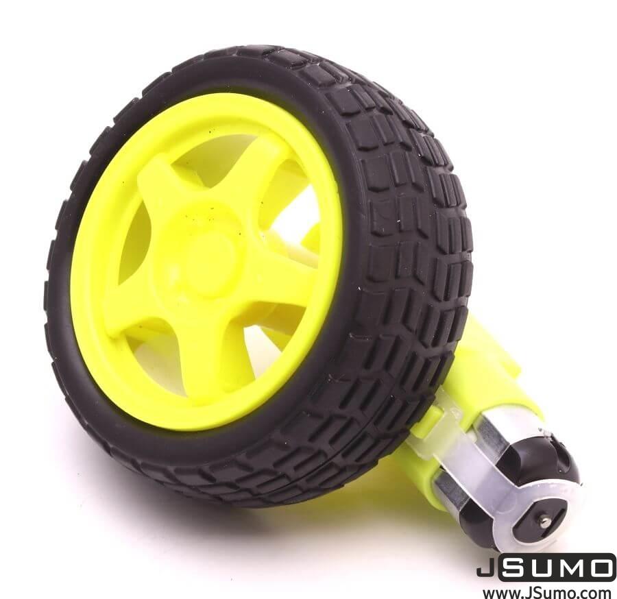 6V 250 Rpm Plastic Gearmotor & Wheel